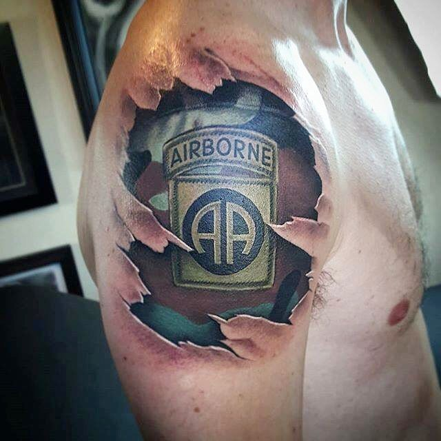 Airborne Shoulder Tattoo