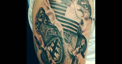 Army Airborne Ranger Left Shoulder Tattoo