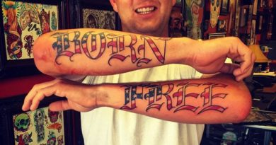 Born Free Forearm Tattoo