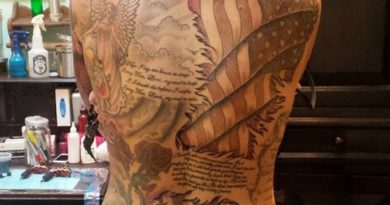 Ciena Faeth American Flag Tattoo