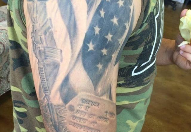 Fallen But Not Forgotten Shoulder Tattoo