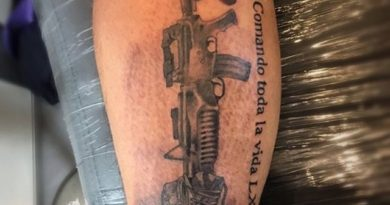 Fallen Soldier Calf Tattoo