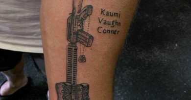 Forearm Fallen Soldier Tattoo