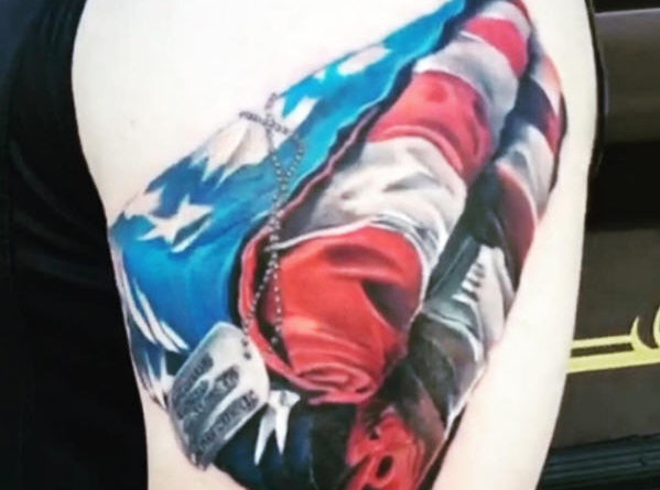 military-tattoo-usa-folded-flag