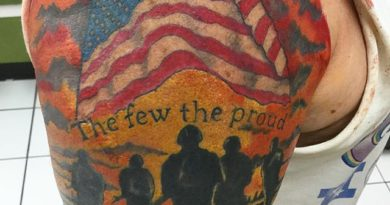 The Few the Proud Shoulder Tattoo