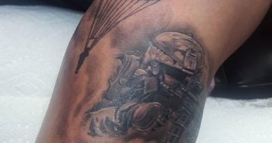 Veteran Tattoo Cool Paratrooper