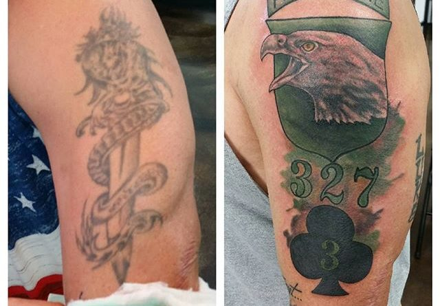 Veteran Tattoos Airborne 327 Cover Up