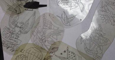 Veteran Tattoos Sketch Templates