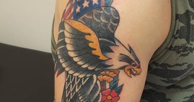 Right Shoulder American Eagle Tattoo