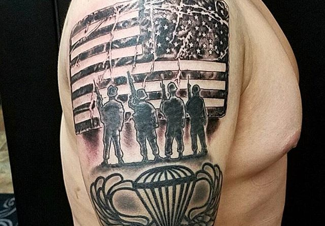 US Paratrooper Tattoo