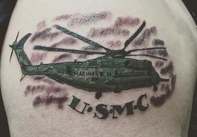 USMC Marines Shoulder Tattoo