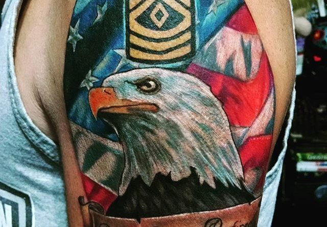 Amazing US Army Retired Tattoo