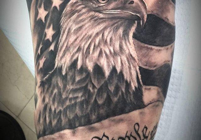 American Eagle Bicep Tattoo