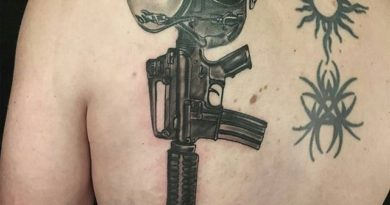 Fallen Soldier Back Tattoo