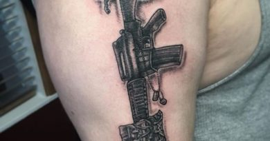 Fallen Soldier Right Shoulder Tattoo