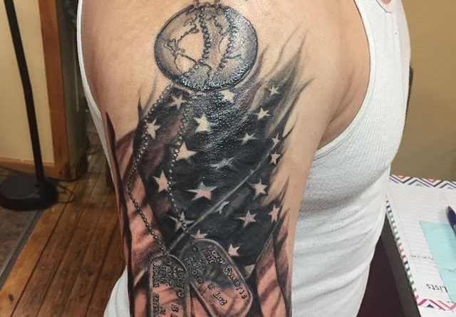 Marines Right Shoulder Tattoo