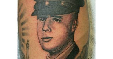 Memorial Portrait Marine Tattoo