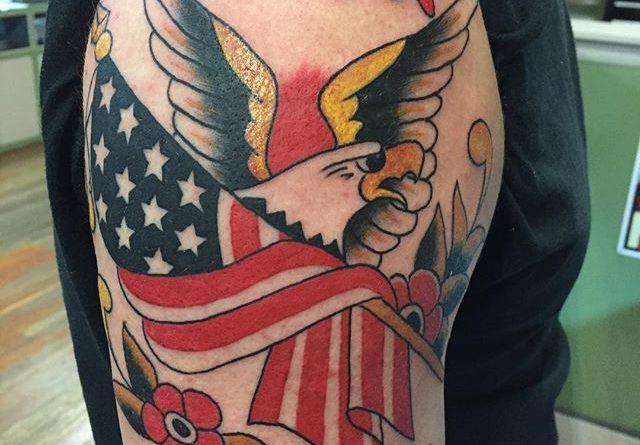 US Navy Left Shoulder Tattoo