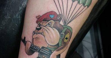 Airborne Forearm Tattoo