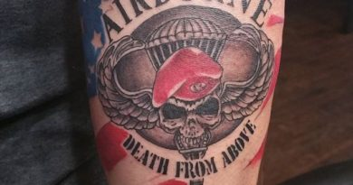 US Airborne Forearm Tattoo