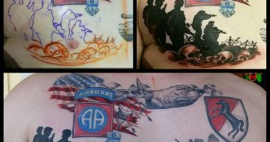 US Airborne Progress Tattoo