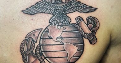 US Marines Chest Tattoo