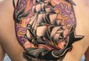 US Navy Full Back Tattoo