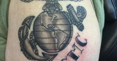USMC Left Shoulder Tattoo
