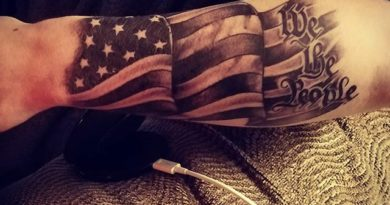 We the People Forearm Tattoo