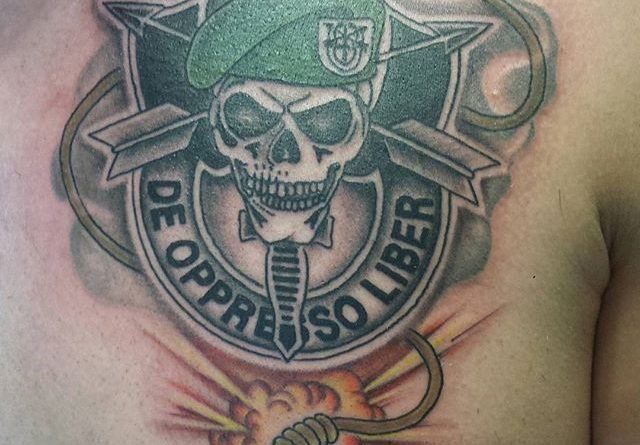 Army Special Forces Tattoo