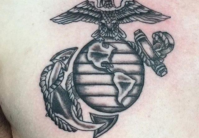 marine corp chest tattoo veteran ink. Black Bedroom Furniture Sets. Home Design Ideas