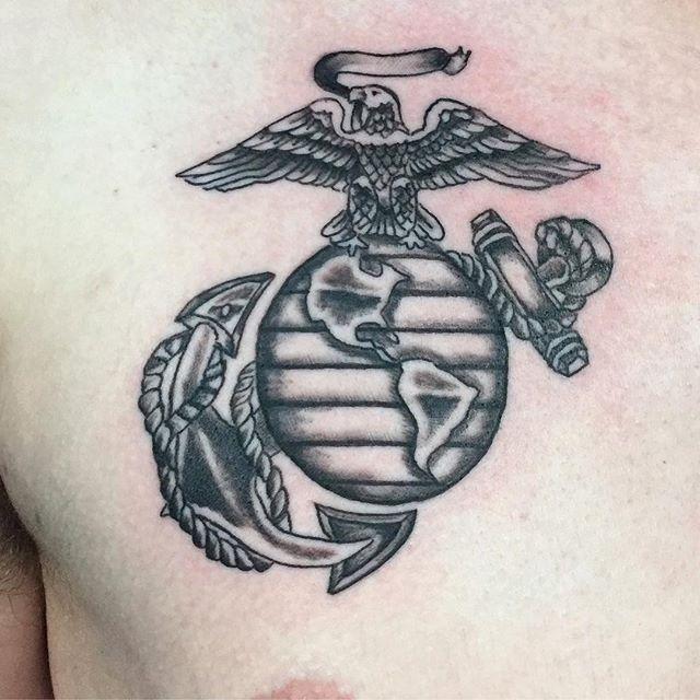 Marine Corp Chest Tattoo
