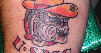 Marine Corp Forearm Tattoo
