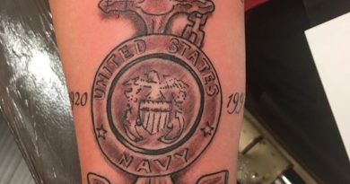 Veteran Memorial Forearm Tattoo