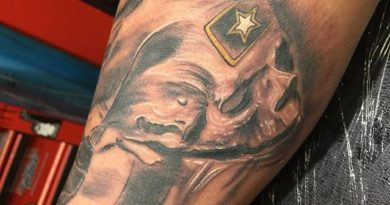 Army Forearm Tattoo