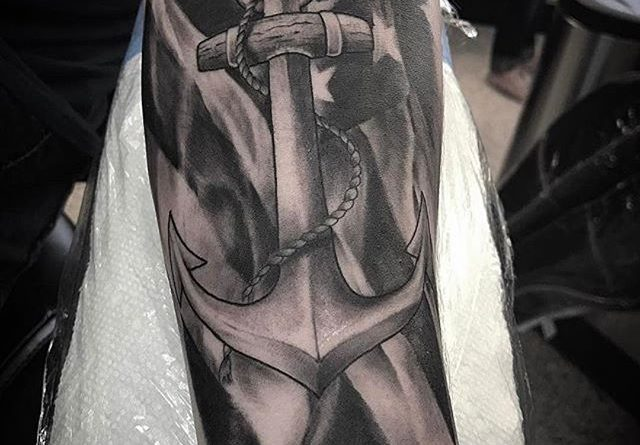 Black and White Navy Tattoo