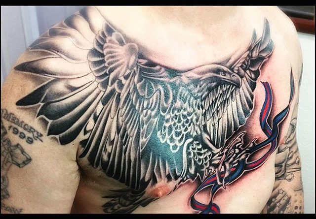 Eagle Chest Tattoo
