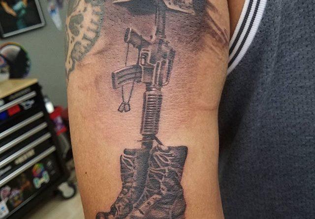 Fallen soldier veteran ink for Fallen soldier tattoo