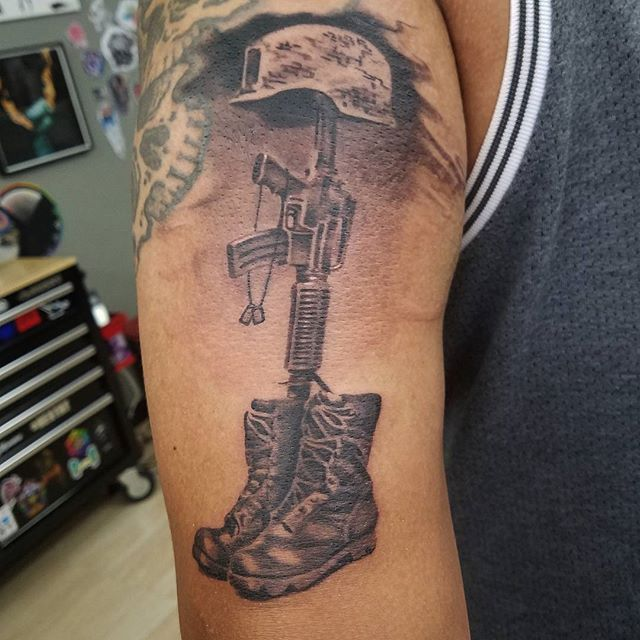 Fallen Soldier Left Arm Tattoo