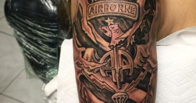 US Airborne Shoulder Tattoo