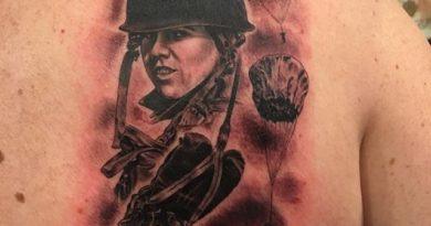 101st Back Tattoo
