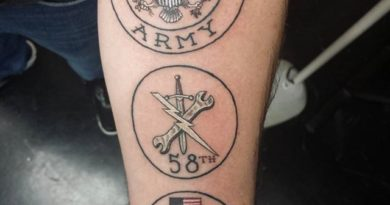 United States Army Forearm Tattoo