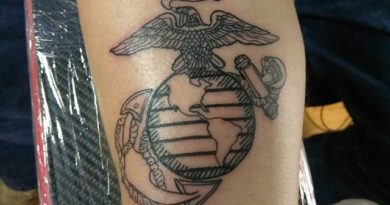 US Marines Forearm Tattoo