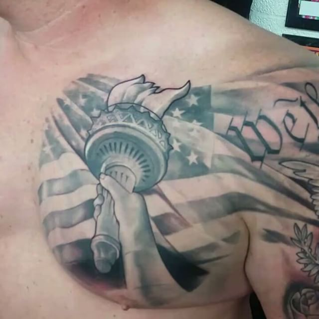 We the People Chest Tattoo