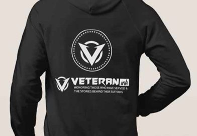 Veteran Ink Hoodie Black Back