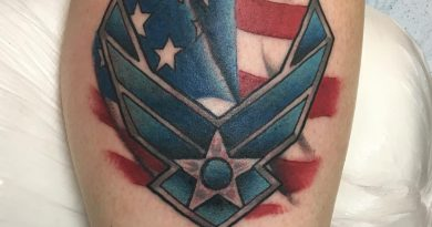 US Airforce Forearm Tattoo