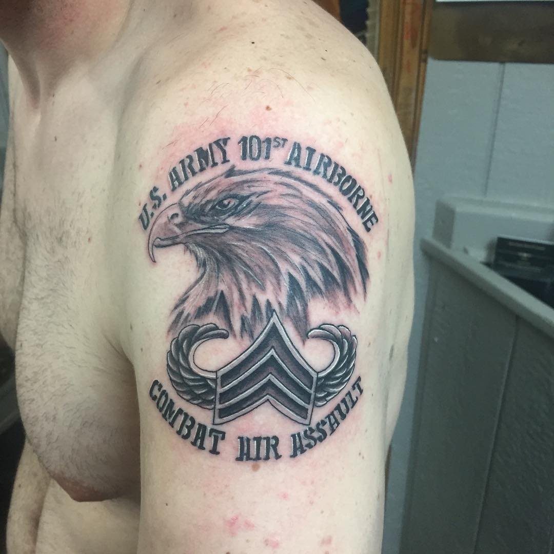 US Army 101st US Airborne Tattoo