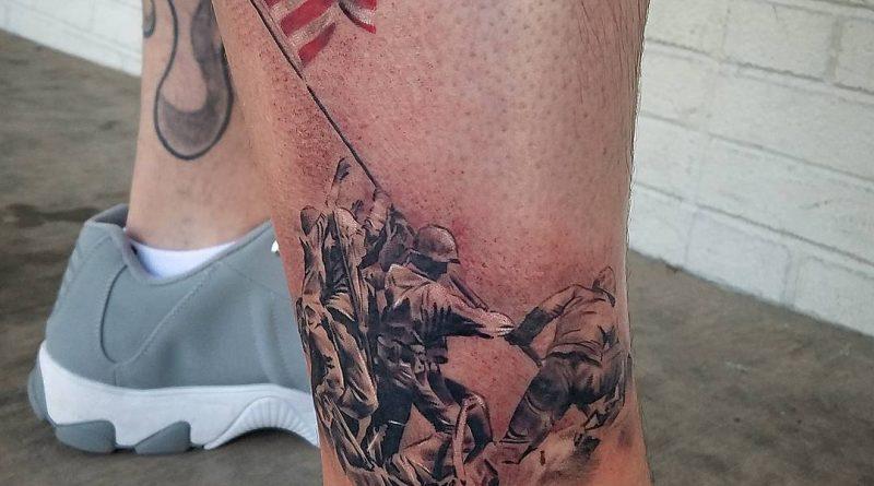 Raising Flag Iwo Jima Tattoo