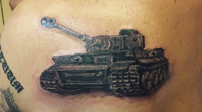 Active Military Tank Tattoo