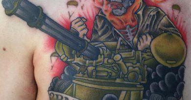 Army Skull Tattoo